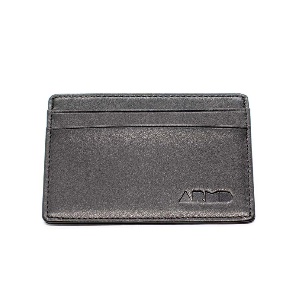 top grain leather card holder